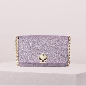 Kate Spade nicola shimmer twistlock chain wallet